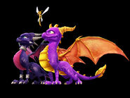 Cynder, Spyro, and Sparx