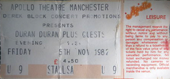 Manchester (UK), Apollo wikipedia duran duran ticket