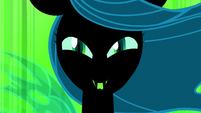 Queen Chrysalis snickers evilly S2E26
