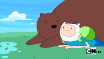 S4e7 finn lying next to bear