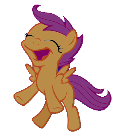 FANMADE Jumping Scootaloo