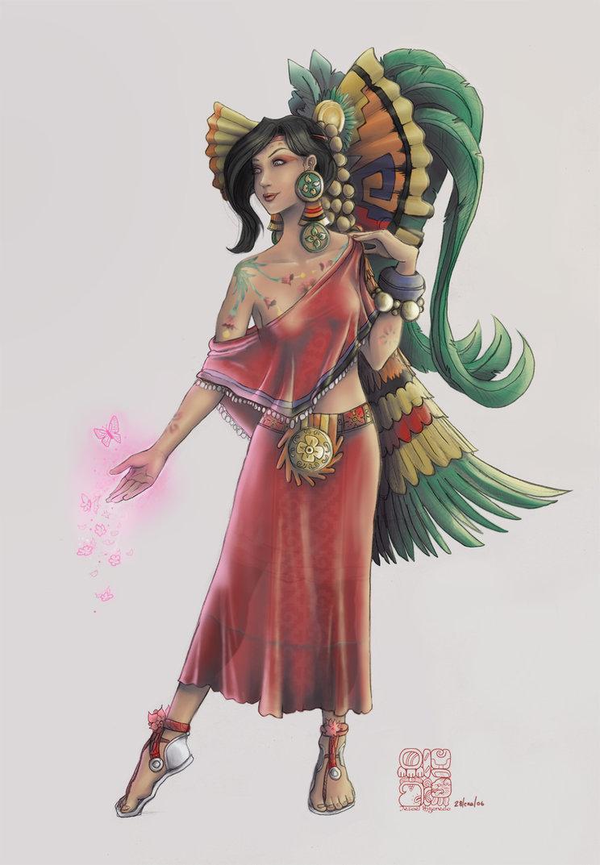 Xochiquetzal was a goddess associated with concepts of fertility    Xochiquetzal Aztec God