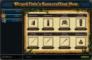 Wizard Finix&#39;s Runecrafting Shop