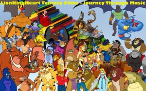 LionKingHeart Fantasy Films - Journey Through Music poster