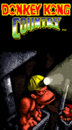 Title Screen - Cavern Themed - Donkey Kong Country (Game Boy Color)