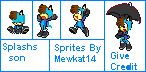 Splash's Son Sprites by Mewkat14