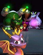 Ripto, Crush, and Gulp