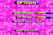 Options Menu - Banjo-Pilot