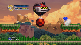 Splash Hill Zone Boss Eggmobile con bola demoledora HD