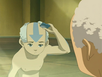 Aang shaving