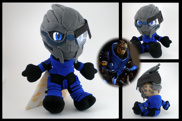 Mass effect garrus plushie by eitanya-d332z4x