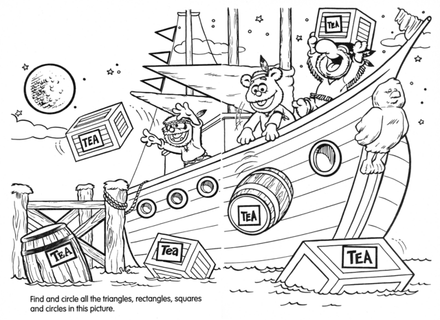 boston tea party coloring page - boston tea party coloring pages