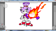 Blaze the Cat By Metal