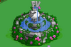 Anniversary Fountain Placed Outside Farm