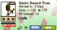 Giant Sword Tree Market Info (May 2012)