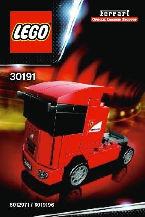 Схемы и инструкции LEGO Racers - Scuderia Ferrari Truck (Тягач Феррари Скудерия) - Lego Racers 30191.
