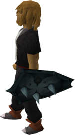 Rune berserker shield 0 equipped