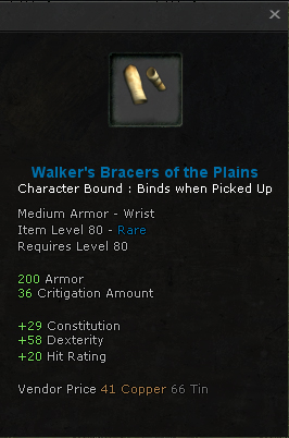 Walkers Bracers of the Plains