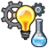 Icon invent cog bulb