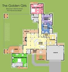 The Golden Girls House Floorplan