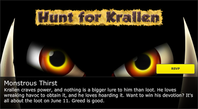 Backyard Monsters hunt for krallen discussion on Kongregate