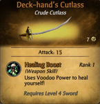Deck-Hand&#39;s Cutlass - clearer