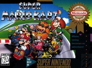 Super Mario Kart - North American Cover
