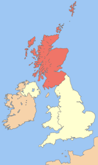 Uk map scotland