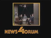 WNBC-TV's News 4 New York's News 4orum Video Open From Late 1980