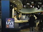 WNBC-TV's News 4 Live At 5 Video Open From Friday Evening, September 6, 1991