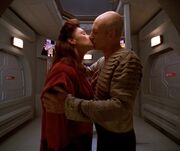 Picard and Daren embrace