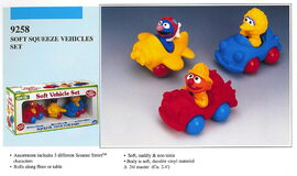 Illco 1992 baby toys soft vehicle set