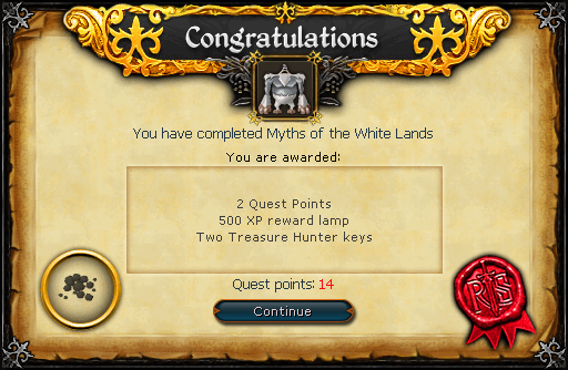 Myths of the White Lands reward