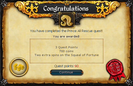 Prince Ali Rescue reward