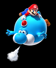 Blimp Yoshi Artwork - Super Mario Galaxy 2