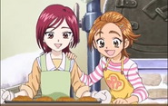 Saki and Michiru bakking bread
