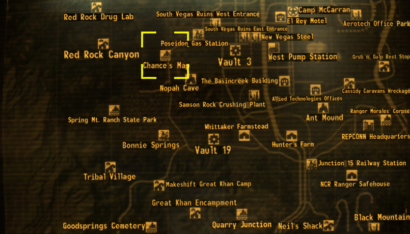 Chance 39 s map The Fallout wiki Fallout New Vegas and more