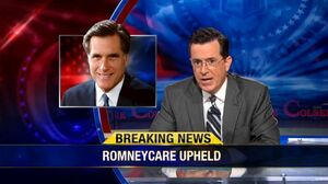Romneycare upheld the colbert report
