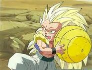 Gotenks con el balon