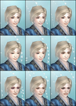 DW6E Female Face Parts