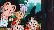 Krilin,trunks y goten observan