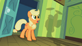 Applejack looking at Apple Bloom spinning plates S2E6.png