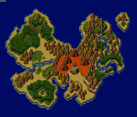 Chrono Trigger world map 65000000 BC
