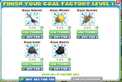 Coal Factory Level1 Items