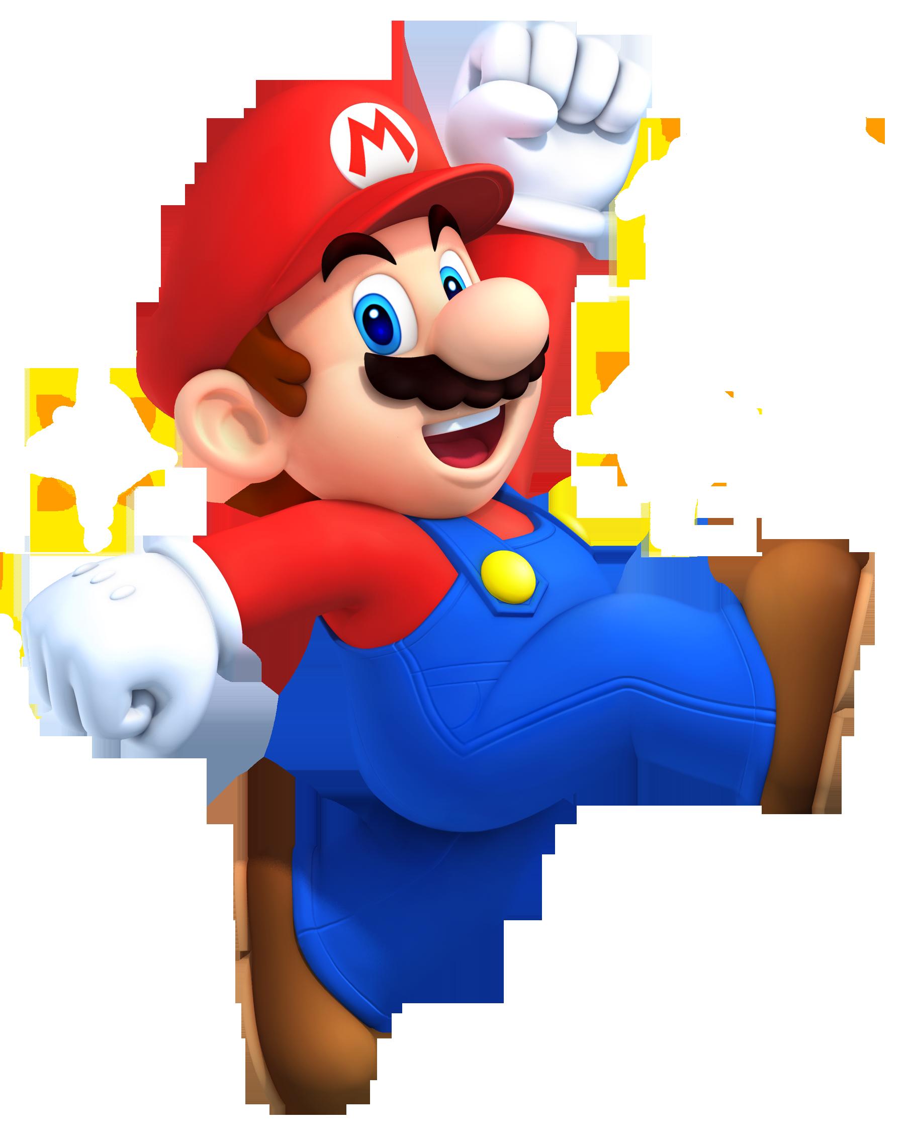 Mario's artwork from New Super Mario Bros. 2