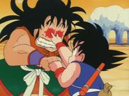 Goku does the scissor