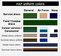 HAF Uniform Colors