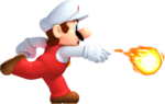 NSMB2 Fire Mario