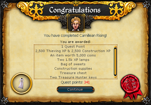 Carnillean Rising reward