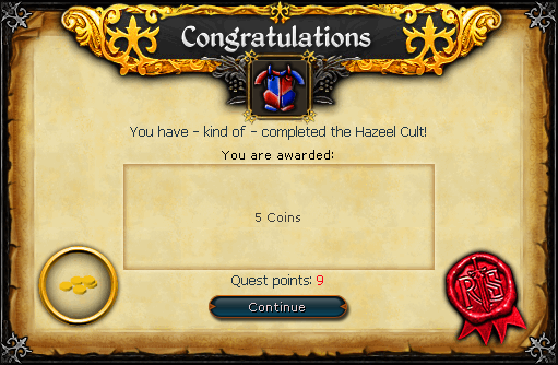 Hazeel Cult Reward
